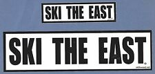 (2) Two Ski The East Ski Snowboard Stickers Decals (Small & Large Stickers)