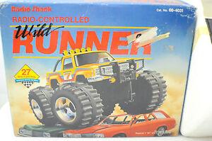 Vintage 1980's Radio Shack Wild Runner Radio Controlled Truck New!