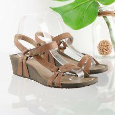 Teva Ysidro Universal Sandal Wedge Women 8 Tan Brown Leather Athleisure Comfy