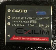 BATTERIA DI RICAMBIO BATTERIA per Casio np-120 np-120 np120 batteria Accu