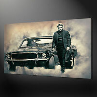 STEVE MCQUEEN BULLITT THE MOVIE CANVAS PRINT PICTURE WALL ART VARIETY OF SIZES