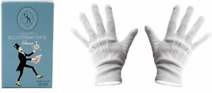 Town talk Silversmith's White Microfiber Gloves One Size 100% Cotton