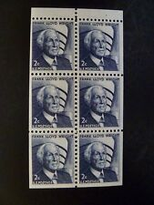 USA 1965-78 $.02 #1280C Frank L. Wright Booklet Pane of 6 MNH - See Images