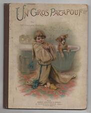 Un gros Patapouf par Georgette Brétigny. L. Westhauser éditeur.1880 env. Chromos