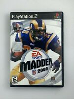Madden NFL 2003 - Playstation 2 PS2 Game - Tested