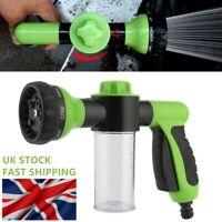 Multifunctional Foam Car Wash Spray Gun&Soap Dispenser Uses Hose Pipe Green