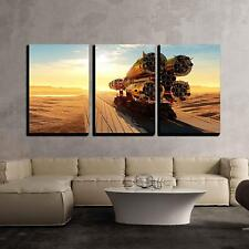 """Wall26 - Baikonur with the Spacecraft Against the Sky Canvas - 16""""x24""""x3 Panels"""