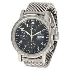 ARISTO Herren Automatik Chronograph Armbanduhr 4H86 Milanaise ETA Valjoux 7750