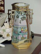 "RARE Antique Beautiful Nippon Bird Vase Antique Vintage pottery 11"" Decorated"