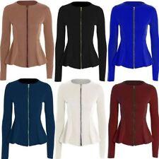 Polyester Blazer Machine Washable Coats & Jackets for Women
