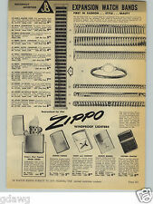 1954 PAPER AD Zippo Cigarette Lighter Leather Sports Golf Town & Country Duck