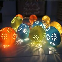 Batterie Bunte Ostern LED Eierschnur Beleuchtet Stammbaum Party Dekoration 3/6M