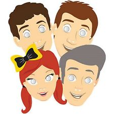 The Wiggles Party Supplies - Party Masks 8pk - Cardboard with Elastic  (CT)