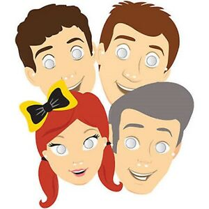 The Wiggles Party Masks 8pk Cardboard with Elastic - The Wiggles Party Supplies