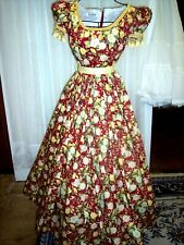 Civil War/Victorian Day gown, of 100% Cotton, Birds & Flowers print