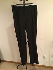 NWT Women's STAFFORD Black 100% Worsted Wool Dress Pant Size 50L 45W