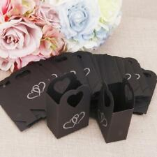 50 Wedding Favour Gift Candy Sweets Boxes Bags Baby Shower Party Black