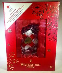 Waterford Crystal American Red Cross Christmas ornament 2015 40005052 new in box