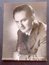 Autografo e fotografia Giuseppe Lamacchia