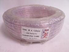 15m rotolo di 1,5 mm di spessore muro 8MM ID chiaro PVC Tubo di linea aerea TUBO # 8n4