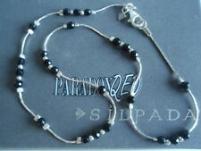 SILPADA RARE Retired Sterling Silver 925 Faceted Onyx Liquid Silver Necklace