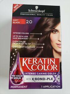 Schwarzkopf Keratin Color Anti-Age Hair Color, Soft Black 2.0