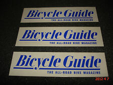 3 AUTHENTIC BICYCLE GUIDE ALL-ROAD MAGAZINE STICKERS / DECALS #1 AUFKLEBER