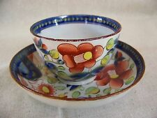 Gaudy Dutch SINGLE ROSE Pattern CUP and SAUCER #4