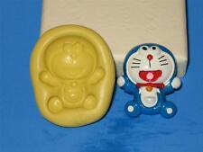 Doraemon 2D Flexible Push Mold Food Safe Silicone A164 Cake Topper Resin Sugar