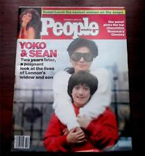 People Magazine  December 13 1982 Yoko & Sean 2 Years Later John Lennon Beatles