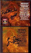Simon RATTLE DONOHOE Signed MESSIAEN Turangalila Symphonie Quartet End Time 2CD