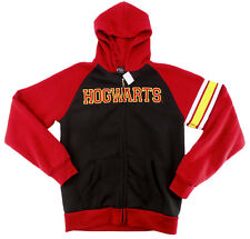 Harry Potter Hogwarts Embroidered Zip Hoodie Jacket Universal Studios L $70 NWT