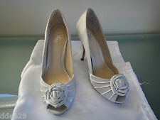 Wttner, 'BROSA' Silver Satin Shoes 'As New' Size 37