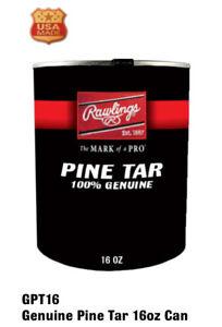 Rawlings Genuine Pine Tar 16 oz. Can for Baseball and Softball Batting Grip