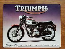 "Triumph Motorcycle Sign - ""Bonneville - The Fastest Production Racer"""