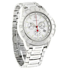Versace V Sport Mens Silver Dial Swiss Quartz Chronograph Watch 12C99D001S099