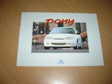 CATALOGUE Hyundai Pony 1996