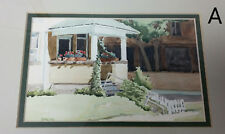Tom Sarmo Illustrator Artist Signed Original Watercolor House Porch