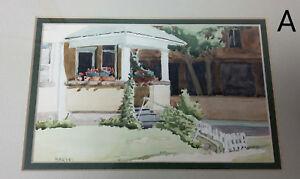 Tom Sarmo Illustrator Artist Signed Original Watercolor House Porch