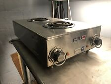 "Wells H-115 12"" Countertop Electric 2 Burner Hotplate - 120v (2 Available)"