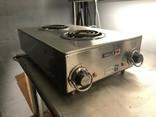 """New listing Wells H-115 12"""" Countertop Electric 2 Burner Hotplate - 120v (2 Available)"""