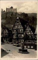 MILTENBERG Main 1941 Schnatterloch Fachwerk Häuser AK alte Postkarte