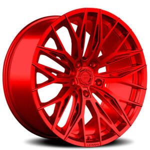 "4ea 20"" Lexani Wheels Aries Custom Candy Red Rims(S44)"