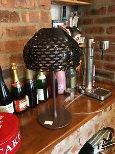 GENUINE EX DISPLAY JOHN LEWIS Tatou Table Lamp Black Shade / Brown Base RRP £275