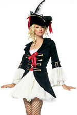 Halloween Women Adult Secret Wishes Charming Pirate Captain Fancy Dress Costume