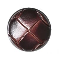Imitation Leather Shank Brown Button 15mm 24L