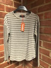 BNWT SUPERDRY BROOKES SOFT SLOUCH JERSEY TOP - UK SIZE 6