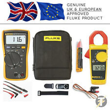Fluke 116 True RMS HVAC Multimeter KITA + 323 Clamp Meter + 1AC II + TPAK + C115