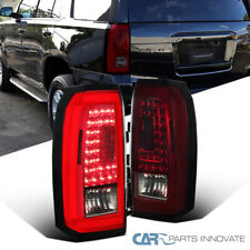 For 15-18 Chevy Tahoe Suburban LED Red/Smoke Rear Tail Lights Brake Lamps Pair