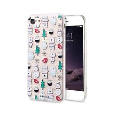 Christmas Pattern Soft TPU Clear Phone Case Cover For iPhone 5 5s 6 6s 7 Plus